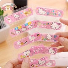 1 Set.Kawaii Kitty Cat Waterproof Band-Aid Bandage Sticker Baby Kids Care First Band Aid Travel Camping Medical Emergency Kit(China)