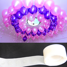 Practical 100Pcs Balloons Glue Point Foil Latex Balloon Fix Gum Air Balls Inflatable Toys Wedding Party Birthday Decorantion