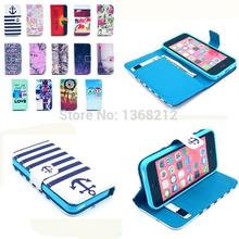 Fashion PU Leather Cover For iPhone 4 4S 5 5S SE 6 6S 6S Plus 4.7 5.5 Capa Owls Bird Tiger Flip Wallet Stand Fundas Phone cases