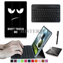 Accessory Kit for Apple iPad 9.7 2017 9.7 inch - Printed Smart Cover Case+Bluetooth Keyboard+Film+Stylus(China)