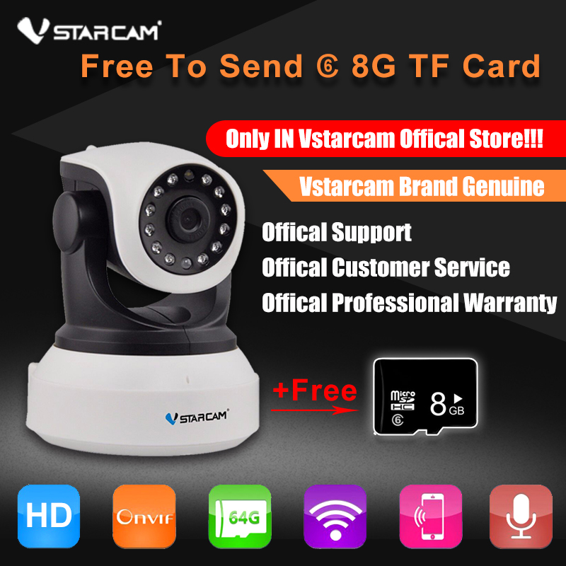 VStarcam C7824WIP HD 720P Wireless IP Camera Wifi Onvif Video Surveillance Security CCTV Network WiFi Camera Free Send 8GB Card<br>