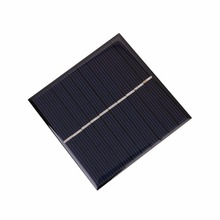 Universal 0.8W 5V Polysilicon DIY Solar Panel Epoxy Plate Battery Power 80x80 Outdoor Travelling Powerbank DIY Module Charging