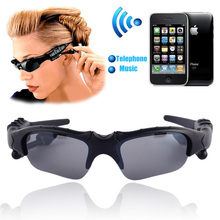 Wireless Bluetooth Glasses Headset music mp3 handsfree earphone Driving Sunglasses Riding Sports Eyes Glasses(China)