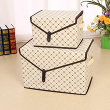 new hot fashion Triangle cover Fabric Folding Socks Underwear Ties Bra Cosmetics Debris jewelry Storage Box Closet organizer(China)