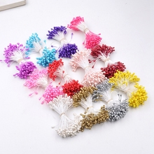 300pcs Double Heads Stamen wedding decoration Artificial Flowers for needlework DIY wreath Gift Boxes Scrapbooking fake flowers(China)