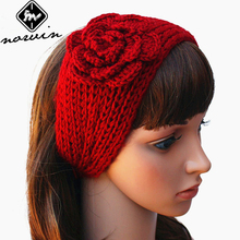 Norvin 24colors Fashion Women Elastic Turban Knitting Wool Headband Ethnic Floral Wide Stretch Girl Hair Accessories Winter 2016