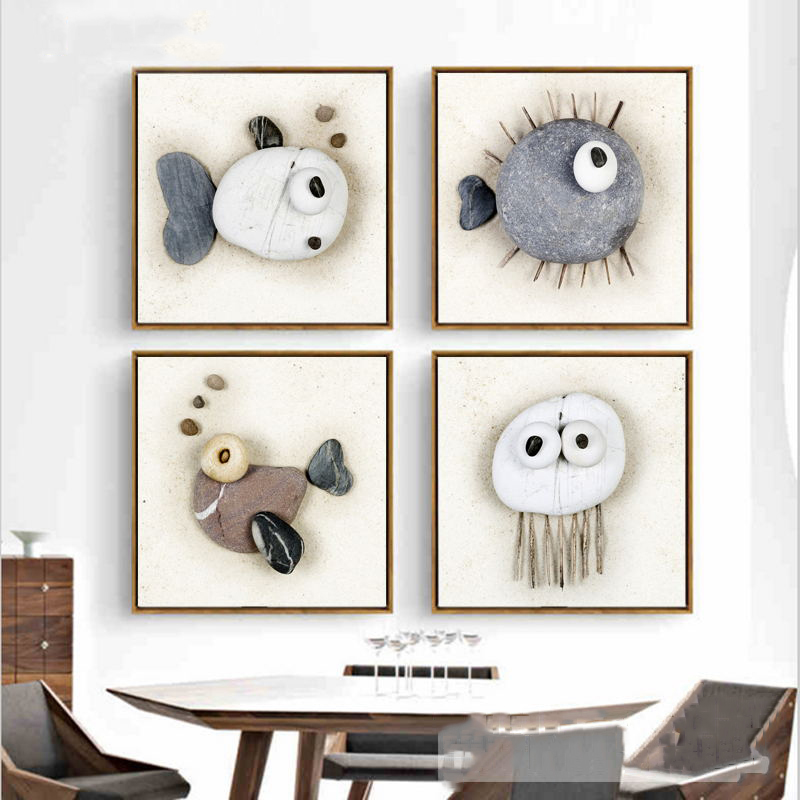 AFFLATUS-Creative-Abstract-Stone-Shaped-Fish-Canvas-Painting-Modern-Art-Print-Poster-Wall-Pictures-For-Living (1)