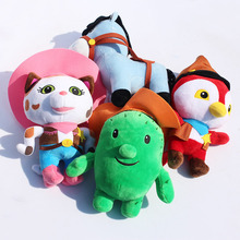 Wholesale 4pcs/lot Movie Sheriff Callie's Wild West Cowboy Callie Cat/Horse/Woodpecker/Cactus Tree Brand Plush Doll Toys(China)