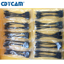 Cdycam 20pcs(10pair) POE Adapter cable screened POE switch POE Splitter Injector Power supply 12-48V separator combiner POE7010(China)