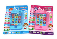 English language Fun Cute Educational Learning Mobile Phone Kids Toy with Sound Smart baby early learning Toys with light(China)