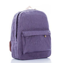 WACSE Wild pure color simple and comfortable purple backpack school bag travel bag schoolbag shoulder bag