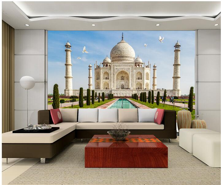 3d Room Wallpaper Custom Photo Non Woven Mural Home Decoration The Taj  Mahal In India Part 19