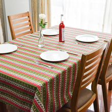 2016 Winter New Christmas Striped Table Cloth High Quality Hot Sale Tablecloth Table Cover manteles para mesa Free Shipping
