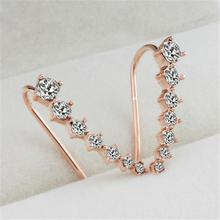 1 pair Ear Cuff Wrap Crystal Earrings Newest High Quality Summer Style Ear Cuff Piercing Clip Earrings Jewelry For Women
