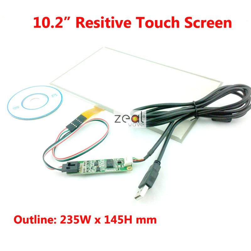 10.2 Inch Resistive Resistance-Type Touch Screen + 4 Wire USB Controller Board for B101AW03 235*145mm<br>