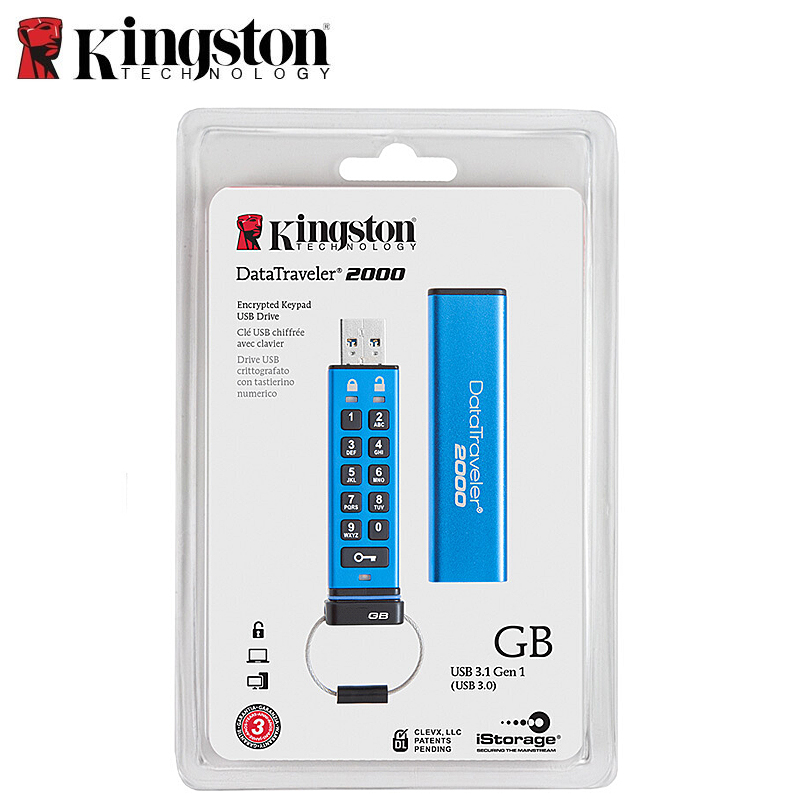 Kingston Pendrives Creativos 16gb Alphanumeric keypad Encrypted Disk on Key cle usb clef Memory Stick DT2000 Flash Drives 32gb (6)