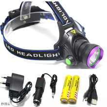 5000 Lumens LED Headlamp CREE XM-L T6 LED Headlight Fishing Light Head Lamp Light + 2*18650 Battery + Charger + Car Charger(China)