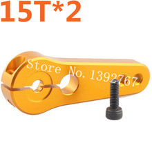 2pcs/lot CNC Aluminum Servo Arm horn 15T AL Alloy Compatible For 1/5 RC Car Remote Control Cars HSP Bajer HPI Baja