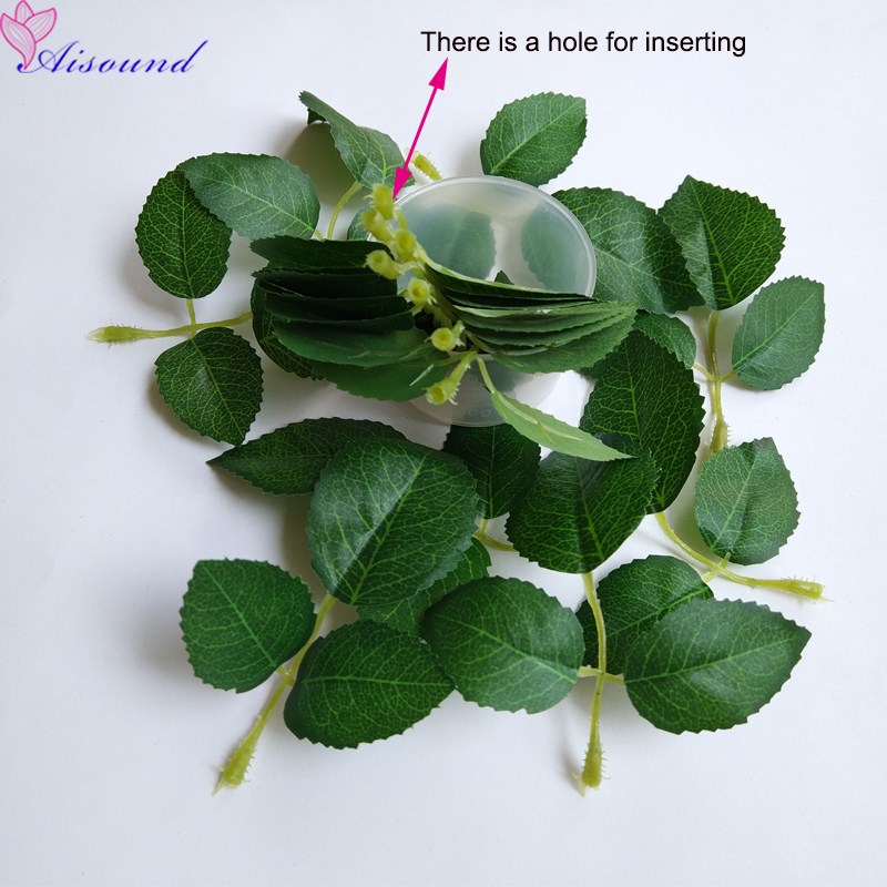 artificial silk leaves