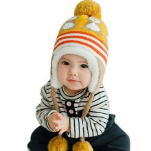 2016 Winter Warm Korean Version Cute Baby Hat Penguin Newborn Colorful Baby Winter Hats Hedging Caps LL4