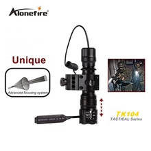 TK104 L2 LED 2200LM Tactical Gun Flashlight  5mode Pistol Handgun Torch Light Lamp Taschenlampe+gun scope mount+remote switch
