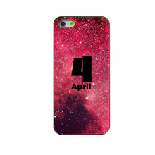2017 latest fashion For Apple iPhone 5 5S 5G Mobile phone cases on the date set for the transparent PC hard shell phone shell
