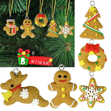 New arrive Christmas tree Ornaments accessories decoration snow flake Santa Claus design clay crafts home decoration parts #001(China)