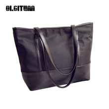 OLGITUM 2017 New Fashion Simple Fashion Ladies Handbags Large Women Bags Nylon Waterproof Tote Bags HB295(China)