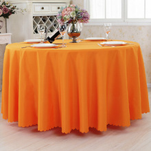 Free Shipping 10pcs Orange Polyester Round Table Covers Wedding Table Cloths Table Linens For Banquet Party Hotel Decoration(China)