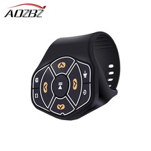 AOZBZ Wireless Bluetooth Steering Wheel Remote Controller Media Button Remote Control Multimedia MP3 Music Play for Android iOS(China)