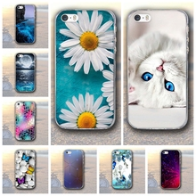 Patinting Case for Apple iPhone 5 5S SE iPhone5 Soft TPU Case Coque for iPhone5 SE 5s Bags Skin Silicon Covers For iphone 6s 8 7(China)
