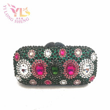 Woman Handbag Clutch Luxury Designers Crystal Handbags Indian Clutch Purses Wholesale Evening High Quality at Factory YLS-G50