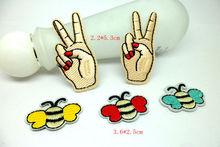 MIX5pcs cute butterfly Embroidered Iron On Patch FOR Clothing Fabric Sewing On Applique Jacket Clothes Badge DIY Apparel patches