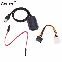 CEWAAL SATA PATA IDE USB 2.0 Adapter Hard Driver Cable Lead Cord Electronic Accessories High Quality(China)