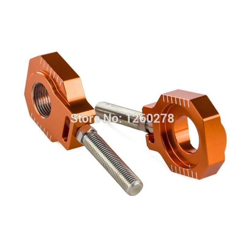 CNC Billet Rear Axle Blocks Chain Adjuster Fits For KTM 85 125 250 300 350 450 530 SX SX/SX-F/EXC/EXC-F/XC-W/XCF-W<br><br>Aliexpress