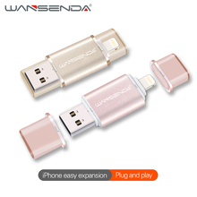 Buy WANSENDA usb flash drive High speed IOS iPhone 7/7plus/6/6s Plus/5s/Ipad USB 2.0 u disk 32G 16G memory stick Pen drive gift for $2.39 in AliExpress store