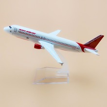 16cm Alloy Metal White AIR Indian A320 AIRLINES Model Aircraft Airbus 320 Airways Airplane Model Plane Model W Stand  Gift