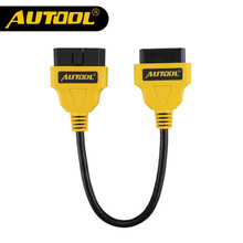 Original AUTOOL OBD2 16Pin Male to Female Extension Cable Connector 30cm OBD II Cable OBD 2 Adapter Diagnostic Connector(China)