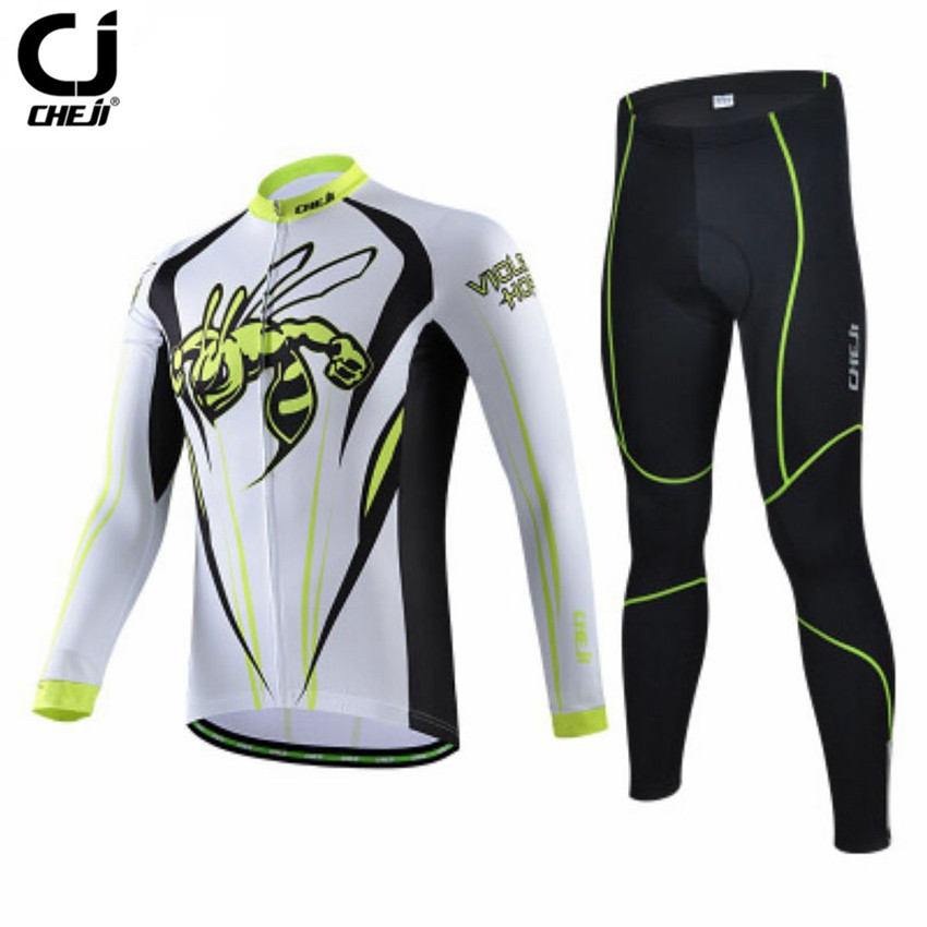 CHEJI Long Sleeve Cycling Clothing Men Maillot Bicycle Cycling Jersey Set Bike Roupa Ciclismo Riding Maillot Sportswear CC1439<br><br>Aliexpress