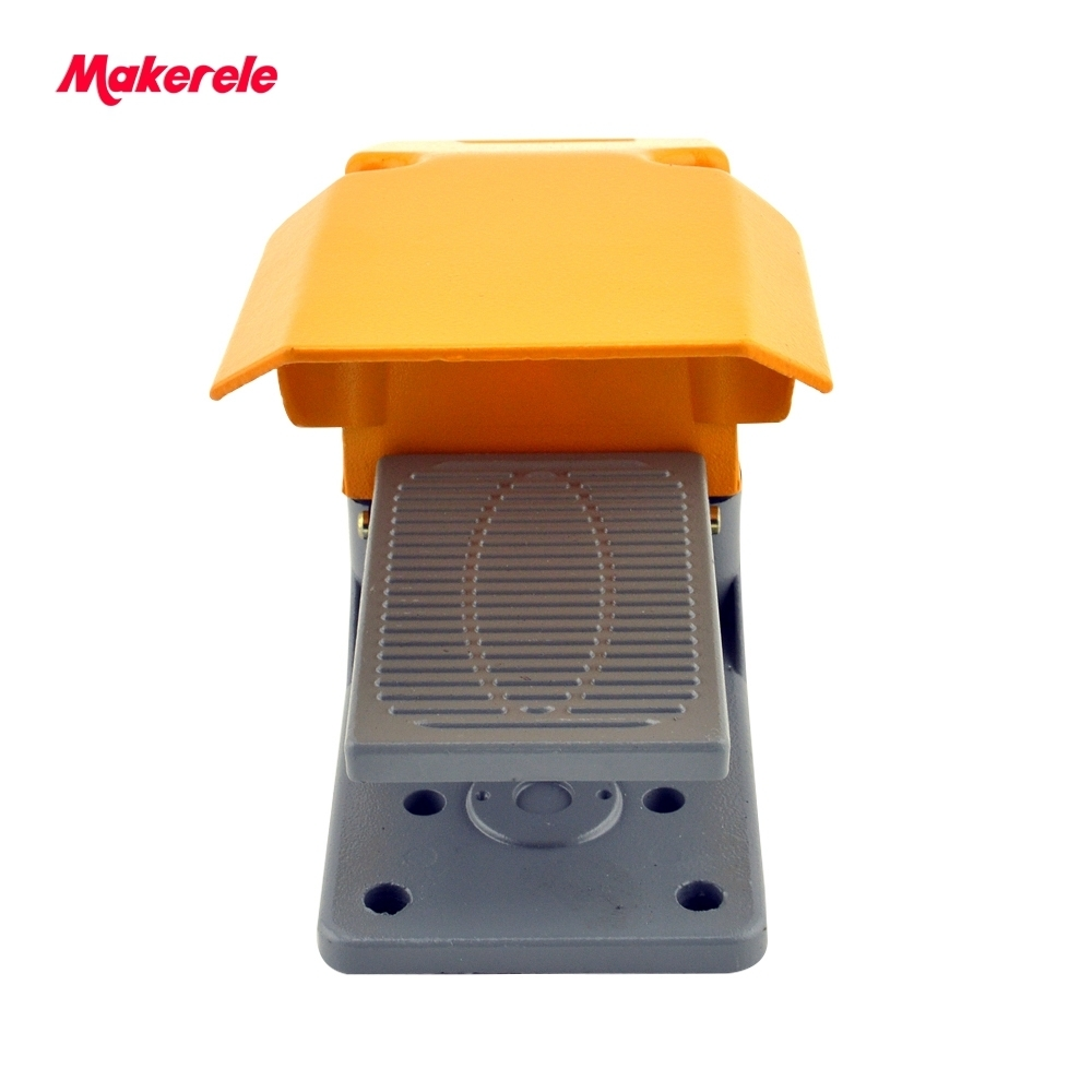 aluminum foot switch MKLT-602 yellow foot operated single treadle tattoo machine foot switch china supplier <br>