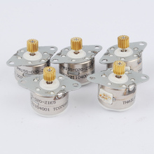 5pcs 4 wire 2 phase DC Micro stepper motor step angle 18 Degree with output gear