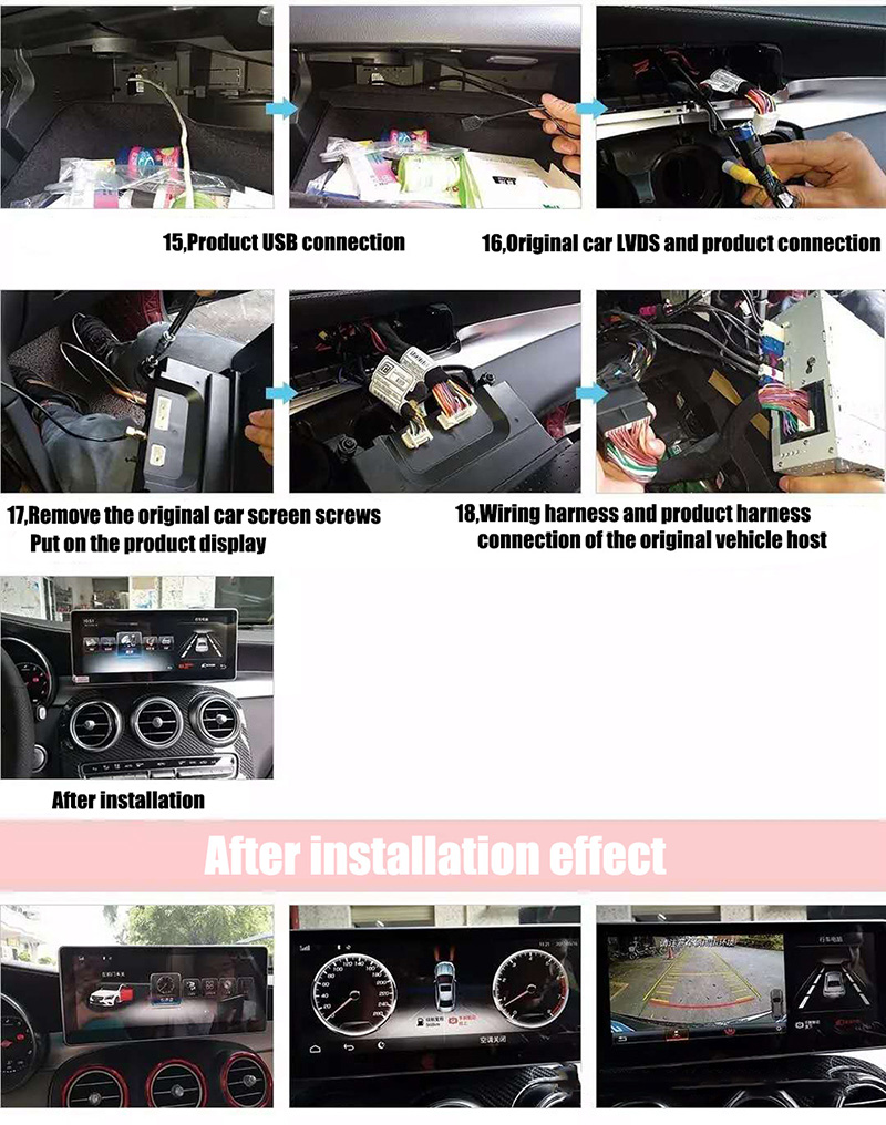 Liislee Car Multimedia Player NAVI For Mercedes-Benz MB C Class W205 C205 A205 S205 2015~ 2018 Car Radio Stereo GPS Navigation (6)