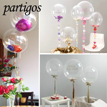 Buy 50pcs 10inch 18inch 24inch Wrinkles Clear Bubble Balloon Transparent Helium Balloons Wedding Brithday Party Decor Globos Diy for $24.49 in AliExpress store