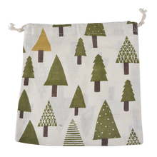 LASPERAL New Sundries Storage Bag Large Christmas Tree Pattern Gift Bag Family Cotton Linen Bunched Bag Three Sizes Choosen