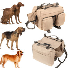 Dogs Saddle Bag For Outdoor Hiking Camping Travel Large Dog Pack Hound Backpack Rucksack Harness Carrier FP8(China)
