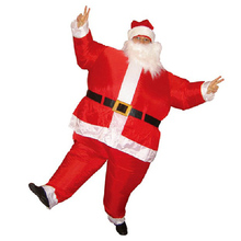 2 Meters Inflatable Santa Claus Christmas Toy Large Cosplay With Moustache Holiday Photo Props Adult Inflating Toys TD0052