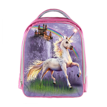 Children Backpack Bookbag Anime Unicorn  Boys Girls Cartoon Kindergarten Backpacks Rainbow Pony Kids School Bags  Pink Backpacks