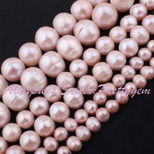 "Natural Freshwater Pearl Purple Irregular Gem Stone Beads 14.5"",For Necklace Jewelry Making,5-7mm,9-10mm,11-14mm Free Shipping"