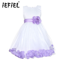 2017 Flower Girl Dresses For Wedding Pageant Prom Party White Dress Baby Kids Clothes Little Toddler Children Princess Dress