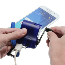 Good Quality Travel Mobile Phone/MP4 Charger High quality Emergency Hand-Cranking Dynamo Electric Generator USB Charger